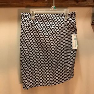 NWT Margaret M pencil skirt, navy diamond print